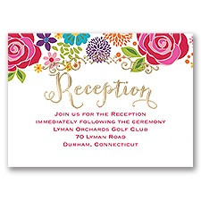 Brilliant Bouquet - Gold - Foil Reception Card