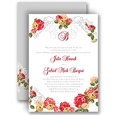 Royal Garden Vintage Wedding Invitation