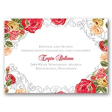 Royal Garden - Reception Card