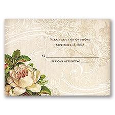 Boho Flowers - Response Card