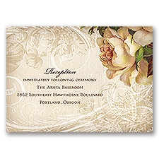 Boho Flowers - Reception Card