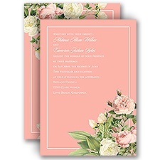 Brilliant Blossoms Pink Wedding Invitation