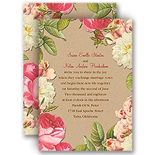 Lush and Luxurious Wedding Invitation