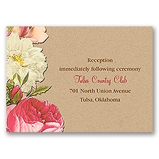 Lush and Luxurious - Reception Card