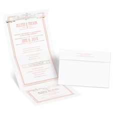 Elegant Elements Gold Foil Seal and Send Wedding Invitation