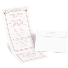 Elegant Elements Rose Gold Foil Seal and Send Wedding Invitation