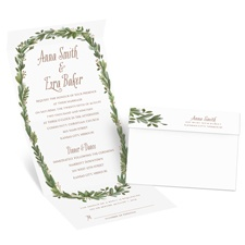 Naturally Perfect Gold Foil Seal and Send Wedding Invitation
