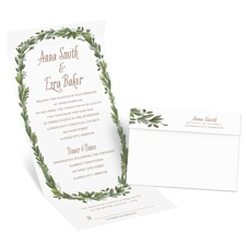 Naturally Perfect Silver Foil Seal and Send Wedding Invitation