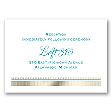 Modern Sparkle - Gold - Foil Reception Card