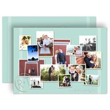 Couple's Collage Gold Foil Wedding Invitation