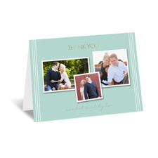 Couple's Collage - Gold - Foil Thank You Card