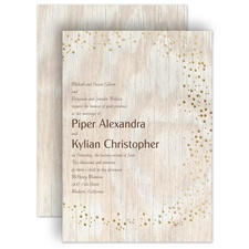Naturally Fancy - Gold - Foil Invitation