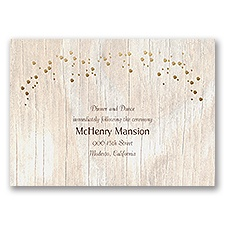 Naturally Fancy - Gold - Foil Reception Card