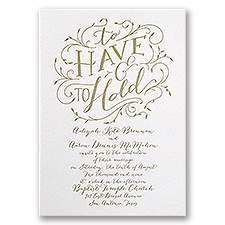 Naturally Romantic Letterpress Wedding Invitation