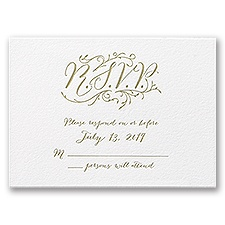Naturally Romantic - Letterpress Response Card