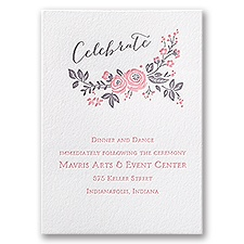 Pretty Perfect - Letterpress Reception Card