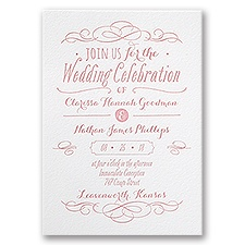 Modern Elegance Letterpress Wedding Invitation