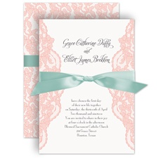 Lacy Gates Pink Wedding Invitation