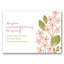 In the Garden - Reception Card