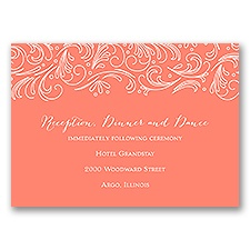 Modern Flourish - Reception Card