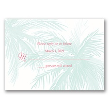 Palm Tree Passion - Response Card