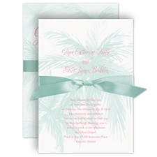 Palm Tree Passion Wedding Invitation