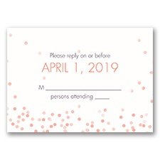 Ribbon and Confetti - Response Card