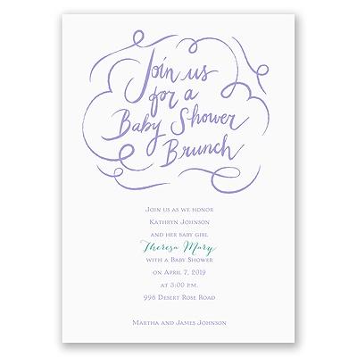 baby shower brunch baby shower invitation