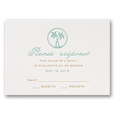 Tropical Chic - Letterpress Response Card