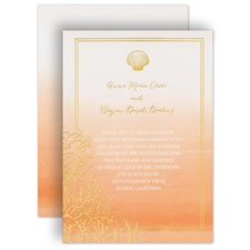 Sea Beauty Corabell Foil Wedding Invitation