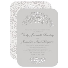 Floral Extravagance Laser Cut Wedding Invitation