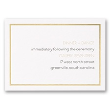Gold Lining - Reception Card