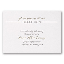 Bold & Gold - Letterpress Reception Card