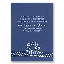 Nautical Style - Reception Card