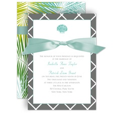 Beach Beauty Wedding Invitation