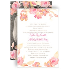 English Rose Wedding Invitation