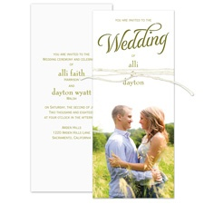 Simple Elegance Laser Cut Wedding Invitation