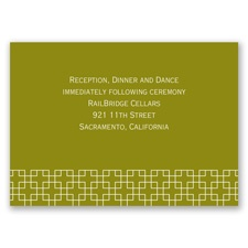 Simple Elegance - Reception Card