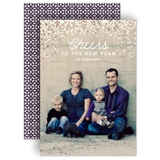 Full of Sparkle - Rose Gold Foil - Holiday Card