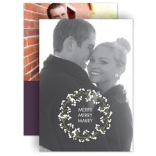 Wedding Wreath Holiday Card Photo Save the Date