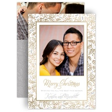 Christmas Holly - Gold Foil - Holiday Card Save the Date