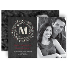 Rustic Holiday - Holiday Card Save the Date