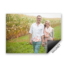Casual Charm Photo Save the Date Magnet