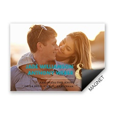 Gold Sparkle  Faux Glitter Save the Date Magnet