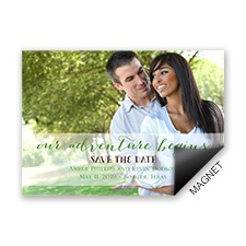 Our Adventure Save the Date Magnet