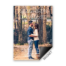 So Perfect Modern Save the Date Magnet