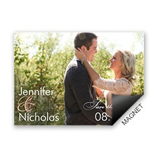 Look of Love Modern Save the Date Magnet