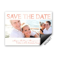 Modern Watercolor Modern Save the Date Magnet