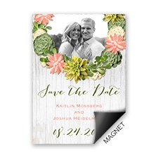 Stylish Succulents Save the Date Magnet
