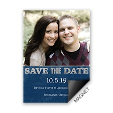 Silver Details Save the Date Magnet